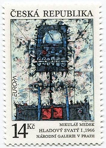 (1993) č. 5 ** - ČR - EUROPA - Hladový svatý Česká pošta