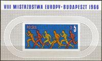 (1966) MiNr. 1688 ** - Polsko - BLOCK 39 - ME v Budapešti - Vytrvalostní běh