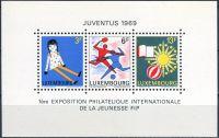 """Zobrazit detail - (1969) MiNr. 785 - 787 ** - Lucembursko - BLOCK 8 - Výstava poštovních známek """"Juventus 1969"""""""