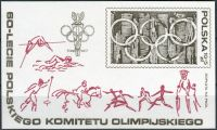 (1979) MiNo. 2628 ** - Poland - Minisheet 74 - 60 years Polish Olympic Committee