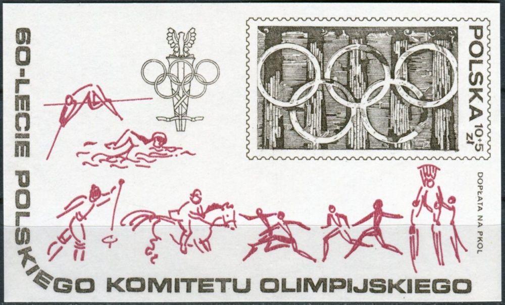 (1979) MiNr. 2628 ** - Polsko - BLOCK 74 - 60 let Polský olympijský výbor