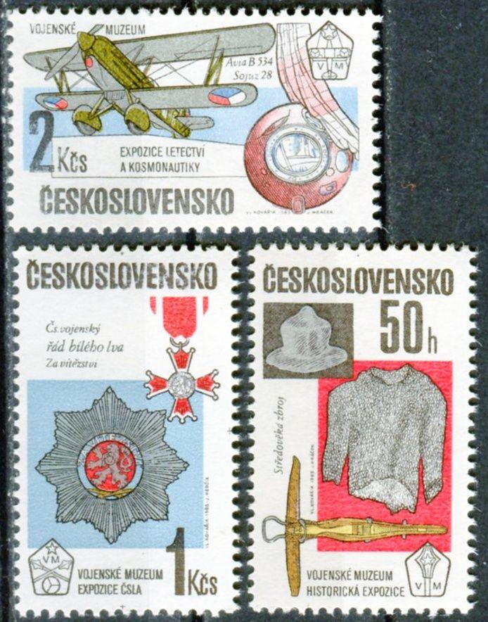 (1985) č. 2685 - 2687 ** - ČSSR - Expozice vojenského muzea ČSSR