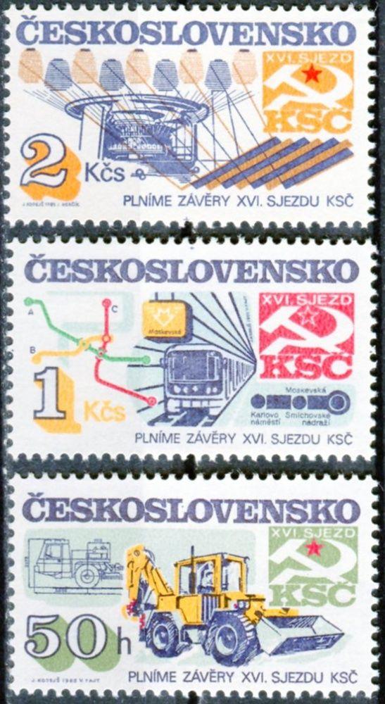 (1985) č. 2714 - 2716 ** - ČSSR - Socialistická výstavba