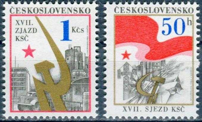 (1986) č. 2736 - 2737 ** - ČSSR - XVII. sjezd KSČ