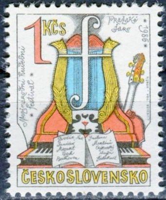 (1986) č. 2742 ** - ČSSR - Hudební festival Pražské jaro 1986