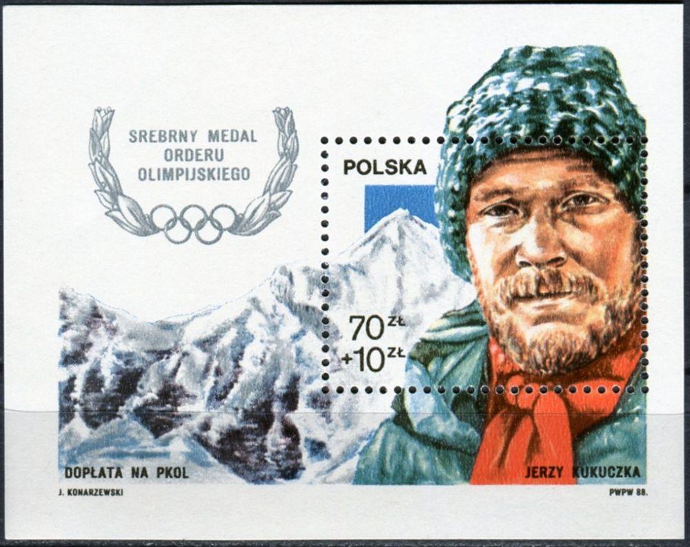 (1988) MiNr. 3155 ** - Polsko - BLOCK 106 - Olympijské stříbro Jerzy Kukuczka