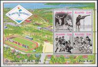 Zobrazit detail - (1991) MiNr. 47 - 50 ** - Aland - BLOCK 1 - Mezinárodní Sportovní hry ostrůvků