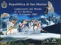 (2003) MiNr. 2062 - 2064 ** - San Marino - BLOCK 32 - MS v klasickém lyžování, Val di Fiemme