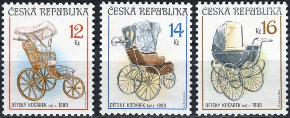 Česká pošta (2004) č. 414 - 416 ** - Česká republika - Sběratelství Dětské kočárky