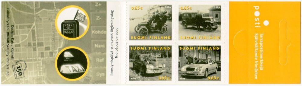 (2006) MiNr. 1775 - 1778 ** - Finsko - ZS - Osobní automobily