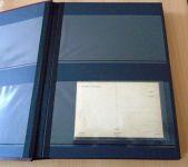 """Zásobník """"pro collect"""" - A4, 32 str., černé listy, nevat. desky, 2 pásky Leuchtturm"""
