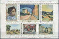(1969) MiNr. 638 - 643 ** - Švédsko - Block 1 - 100. narozeniny Ivan Aguéli