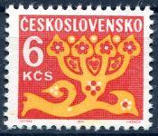 (1971) č. D 103 xb ** - papír OZ - Doplatní zn. - květy