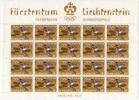 (1972) MiNr. 559 ** - Lichtenštejnsko - tiskový list - Letní olympijské hry v Mnichově