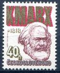 (1978) č. 2293 ** - Československo - Karel Marx (matný lep)