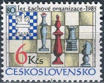 (1985) č. 2694 ** - ČSSR - 80 let šachové federace