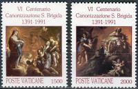 (1991) MiNr. 1038 - 1039 ** - Vatikán - 600. výročí svatořečení