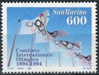 (1994) MiNr. 1568 ** - San Marino - 100 let Mezinárodní olympijský výbor (MOV)