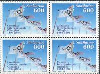 (1994) MiNr. 1568 ** - San Marino - 4-bl - 100 let Mezinárodní olympijský výbor (MOV)