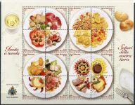 (2003) MiNr. 2065 - 2080 ** - San Marino - Tiskový list - místní kuchyně