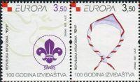 (2007) MiNr. 805 - 806 **- Chorvatsko - 2-bl - Europa: Skaut