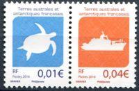 (2016) MiNr. 928 + 931 ** - Francouzská Antarktida - Želva + loď