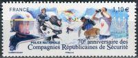 (2014) MiNr. 6044 ** - Francie - 70 let Národní bezpečnostní policie (CRS)