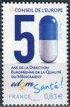 (2014) MiNr. 72 ** - Francie-Rada Evropy - 60 let evropské řízení jakosti léčiv