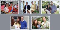 (2016) MiNr. 2019 - 2023 ** - Jersey - Svatba prince Williama a vévodkyně Catherine
