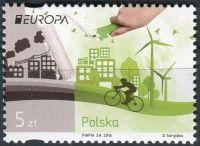 (2016) MiNr. 4831 ** - 5 Zl - Polsko - Europa: Šetrnost vůči životnímu prostředí