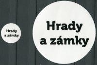 """MAC Nálepky na alba na turistické medaile - nápis: """"Hrady a zámky"""""""