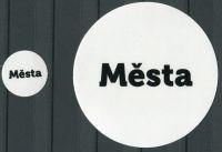 """MAC Nálepky na alba na turistické medaile - nápis: """"Města"""""""