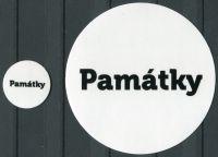 """MAC Nálepky na alba na turistické medaile - nápis: """"Památky"""""""