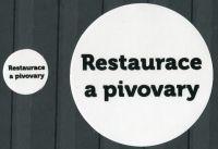 """MAC Nálepky na alba na turistické medaile - nápis: """"Restaurace a pivovary"""""""