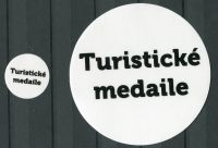 "MAC labels on albums tourist medals - the inscription: ""Turistické medaile"""