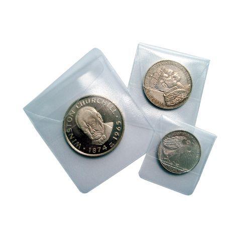 Safe Plastové kapsy na mince 50 x 50 mm