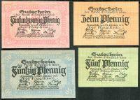Zobrazit detail - (1919) Nimptsch / Niemcza - 5 +10 + 25 + 50 Pfening (UNC)