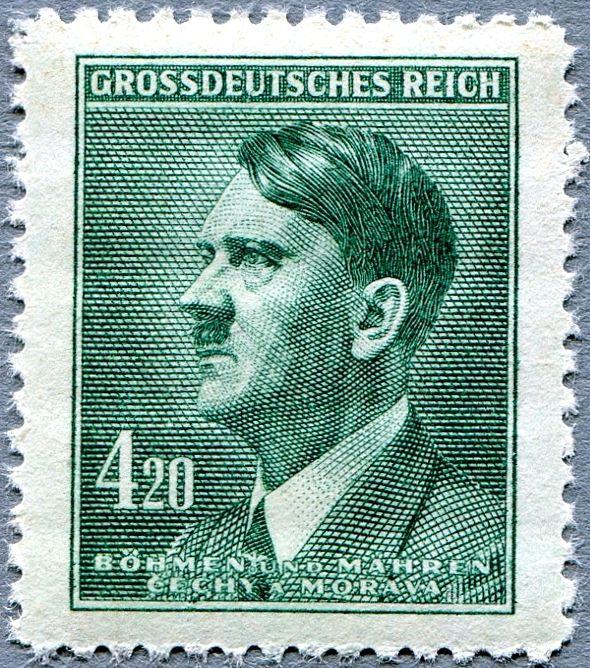 Protektorát Čechy a Morava (1945) č. 122 ** - B.u.M. - 4,20 K - Adlof Hitler (výplatní zn.)