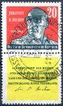 (1959) MiNr. 732 + K - O - DDR - První výročí úmrtí J. R. Bechera