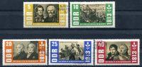 """(1963) MiNr. 988 - 992 - O - DDR - 150. výročí """"Osvobozovacích válek"""""""