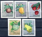 (1964) MiNr. 334 - 338 U * - stříhaná - Severní Vietnam - tropické ovoce