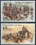 (1997) MiNo. 156-157 ** - Tschechische Republik - Prag 1998 - Prager hundert Türme (Serie)