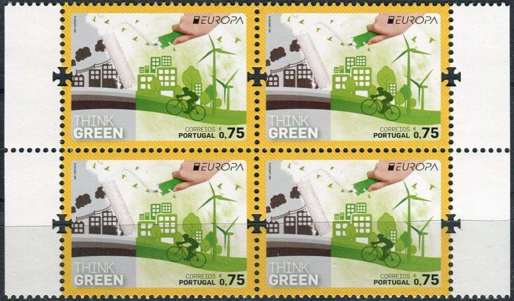 (2016) MiNr. 4134 ** - Portugalsko - 4-bl - Evropa: Myslíme zeleně