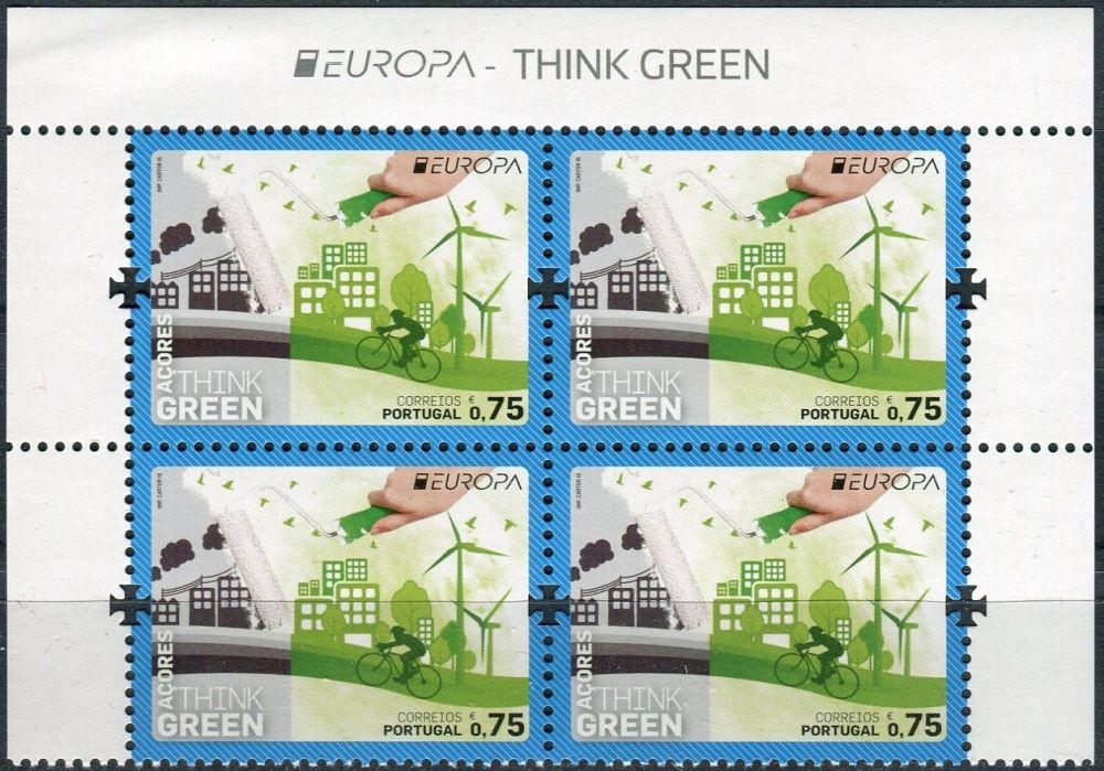 (2016) MiNr. 614  ** - Portugalsko Azory - 4-bl - Europa: Myslíme zeleně - s nápisem