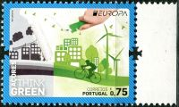 (2016) MiNr. 614  ** - Portugalsko Azory - Europa: Myslíme zeleně