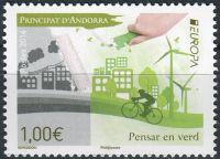 (2016) MiNr. 804 **- € 1,00 - Andora (Fr.) -  Europa: Šetrnost vůči životnímu prostředí