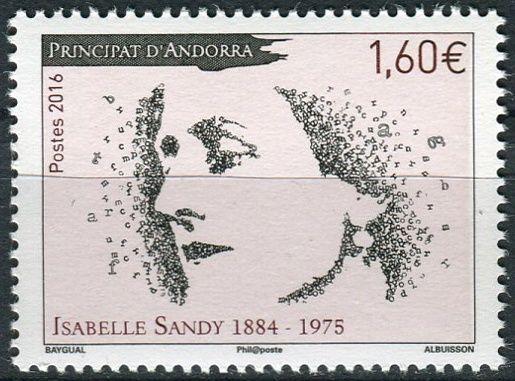 (2016) MiNr. 809 **- € 1,60 - Andora (Fr.) -  Isabelle Sandy