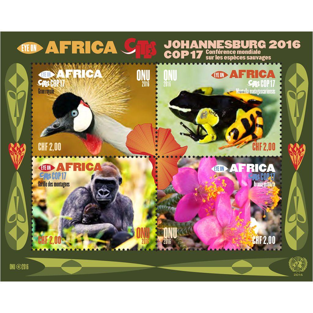 (2016) MiNr. 969-972 ** ( 2 chf ) - OSN Ženeva - BLOCK 42 -  zaměření na Afriku