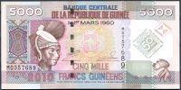Guinea - (P 44) 5000 FRANCS (2010) pamětní série - UNC