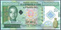 Guinea - (P 45) 10 000 FRANCS (2010) pamětní série - UNC